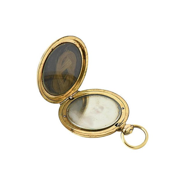 19th Century Victorian Daguerreotype Hair Locket For Sale - Image 4 of 6
