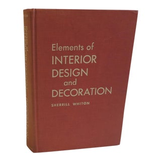 Elements of Interior Design and Decoration Book For Sale
