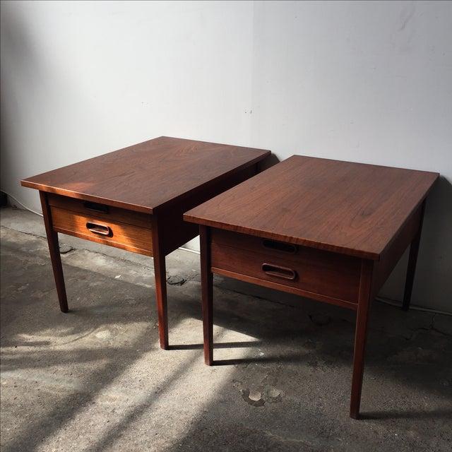 Teak Mid-Century Side Tables - Pair - Image 10 of 10