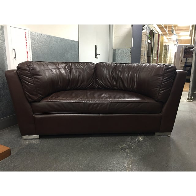 Leather Arc Sofa - Image 2 of 9
