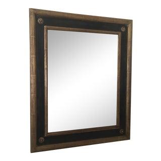 Gold Leaf Black Paint Mirror