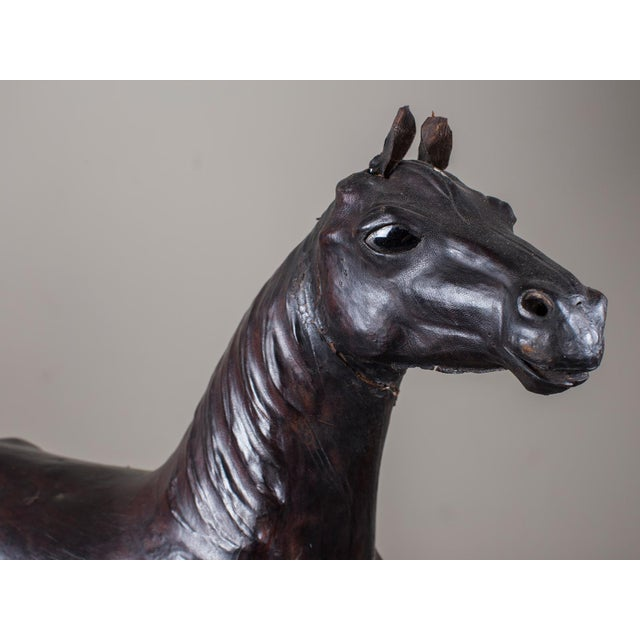 Vintage English Liberty Leather Horse circa 1920 - Image 4 of 11