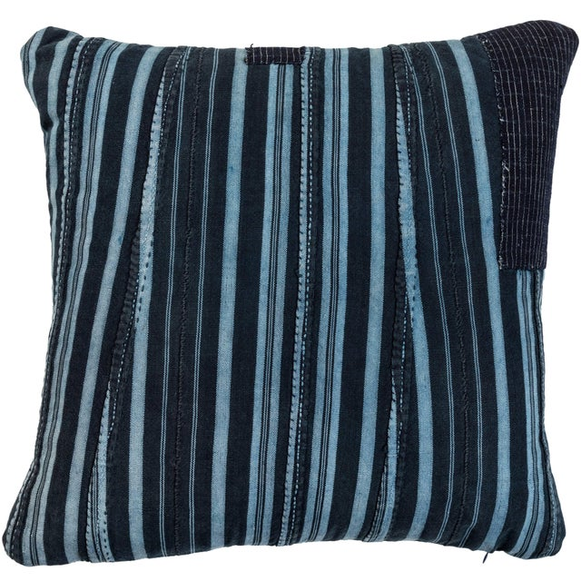 Mid 20th Century African Indigo Ashante Pillow For Sale - Image 5 of 5