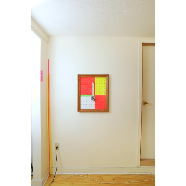 This unique piece of Pop Art is an abstract take on utilitarian tool pegboard, as found in workshops and garages. With...