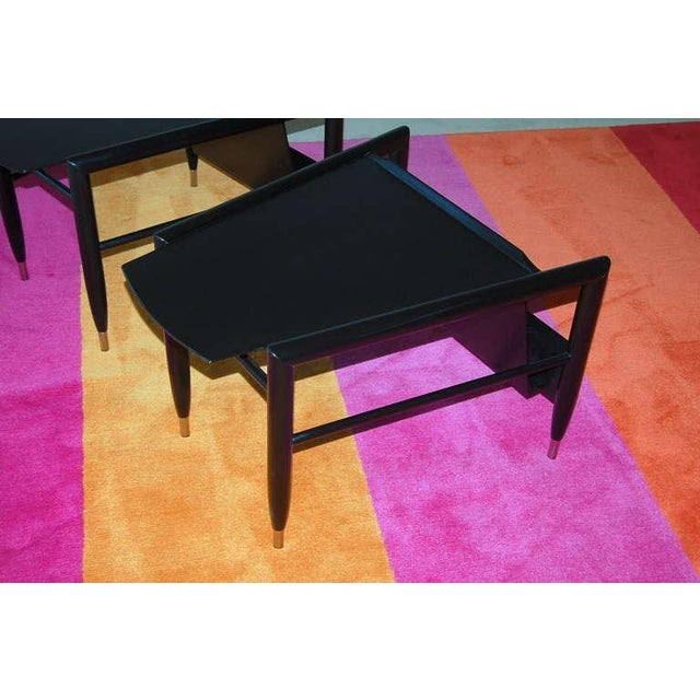 1950s John Keal for Brown Saltman Wedge Side Tables For Sale - Image 5 of 10