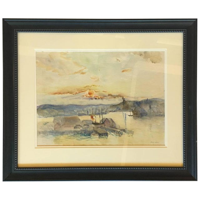 Hayley Lever Signed Watercolor Painting - Image 1 of 6