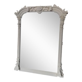 White Painted Scalloped Mirror