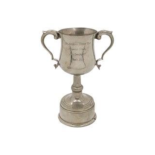 Vintage Silver-Plate English Boxer Dog Club Trophy