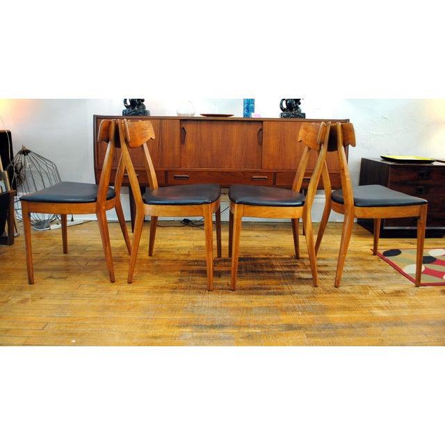Drexel Declaration Kipp Stewart for Drexel Declaration Mid-Century Dining Chairs - Set of 4 For Sale - Image 4 of 10