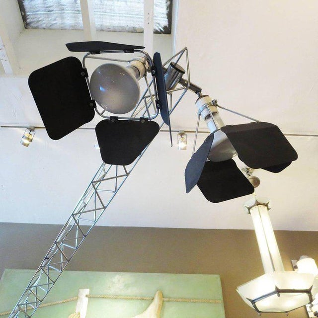 Curtis Jere Curtis Jere Large Size Crane Standing Lamp, Signed, 1977 For Sale - Image 4 of 8
