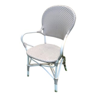 Sika Design Outdoor White and Ivory Dining Arm Chair