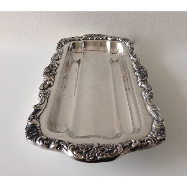 1970s Georgian Style Towle Serving Tray For Sale - Image 5 of 9