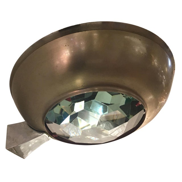 Beautiful Fontana Arte Wall Light Model 2315 designed Max Ingrand in the the 1960's. It features a hand cut faceted glass...