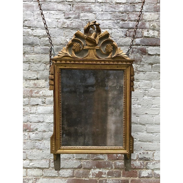 Gold Louis XVI Mirror, 18th Century For Sale - Image 8 of 9