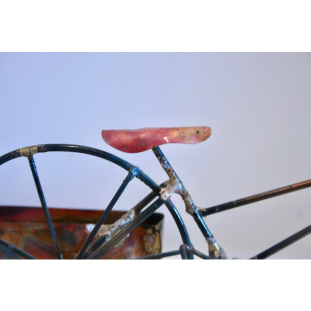 Brutalist Copper & Brass Bicycle Sculpture - Image 7 of 9