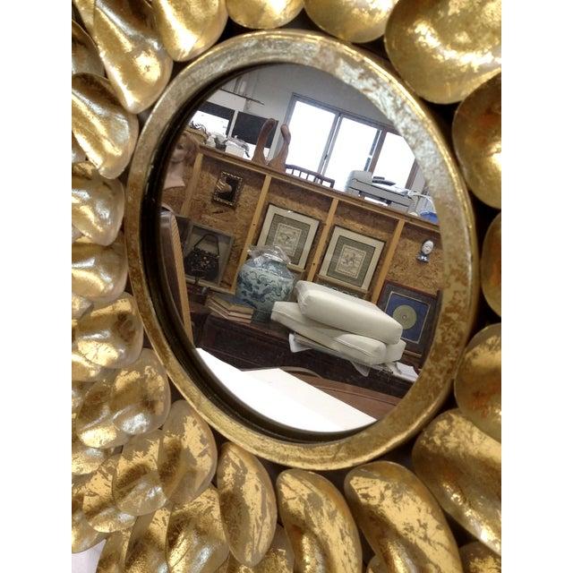 Gold Metal Sunburst-Style Mirror - Image 6 of 9