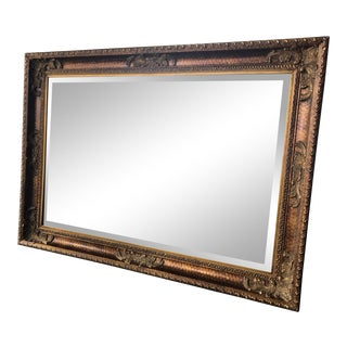 Vintage Syroco Hollywood Regency Gold and Pattern Plastic Horizontal and Vertical Mirror For Sale