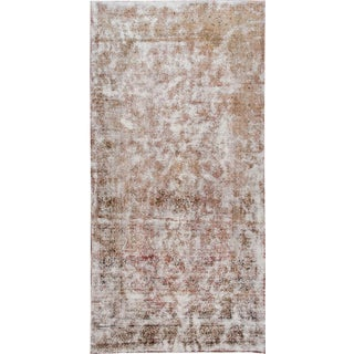 Late 20th Century Antique Tabriz Distrssed Wool Rug For Sale