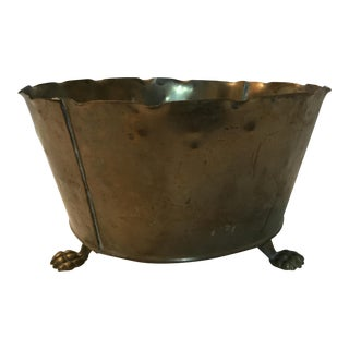 Footed Brass Cachepot