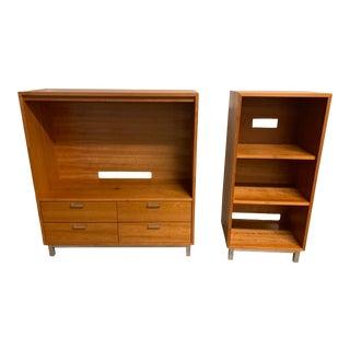 Room & Board Two-Piece Copenhagen Cherry Wood Cabinets For Sale