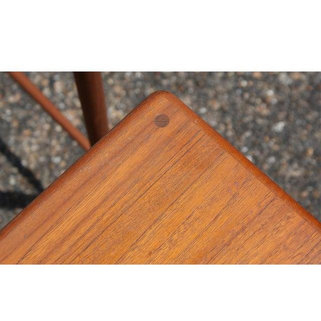 Danish Modern Vintage Grete Jalk Danish Nesting Side End Tables - Set of 3 For Sale - Image 3 of 4