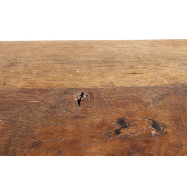 Antique Monestary-Style Oak Coffee Table - Image 8 of 9