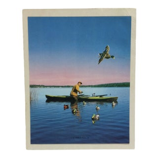 """Realist Mounted Color Outdoor Print, """"A Mallard Passes By"""" For Sale"""