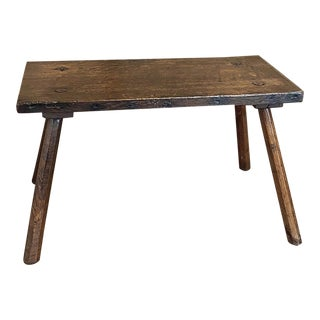 19th Century Rustic Dutch Lamp Table For Sale