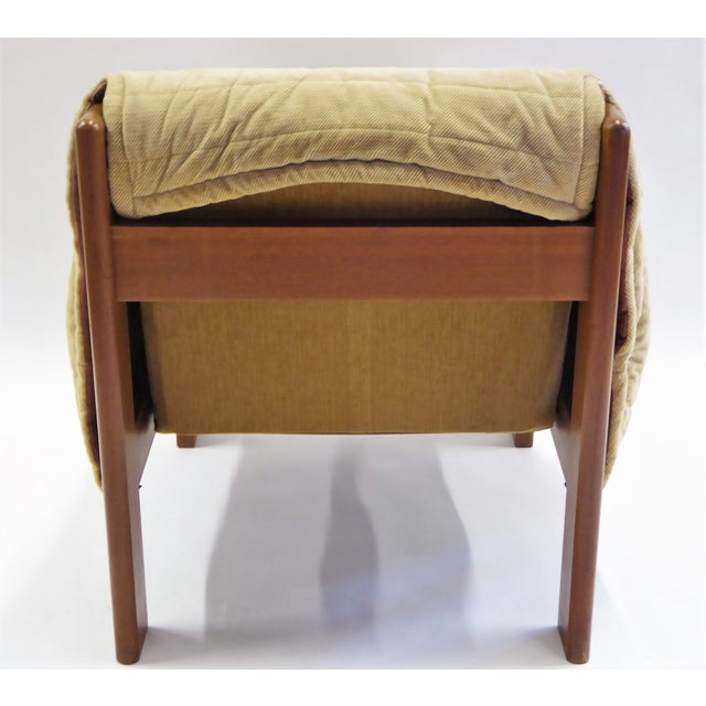 1970s Domino Mobler Danish Modern Solid Teak Lounge Chair For Sale - Image 11 of 13