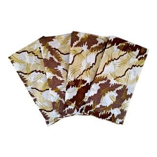 White & Gold African Print Fabric Napkins & Runner Set