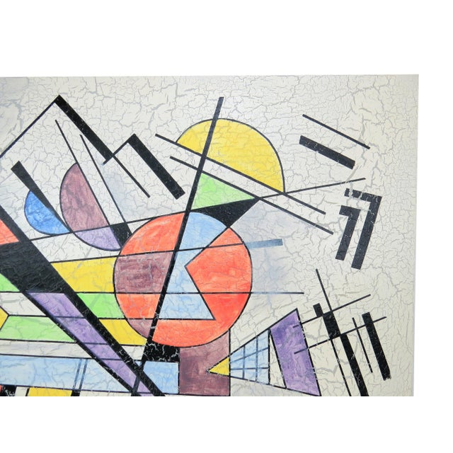 1980s Lee Reynolds Large Abstract Painting in the Style of Wassily Kandinsky For Sale In Chicago - Image 6 of 11
