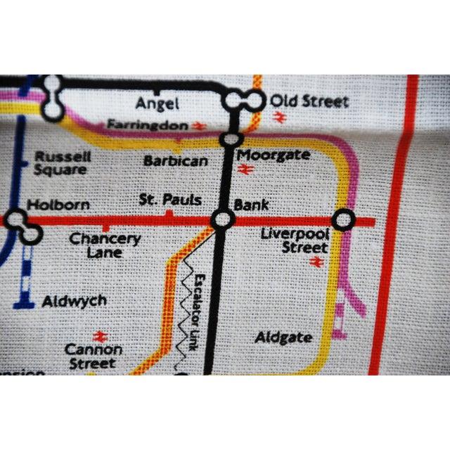 Vintage Harrod's London Underground Knightsbridge Tea Towel - Image 4 of 8