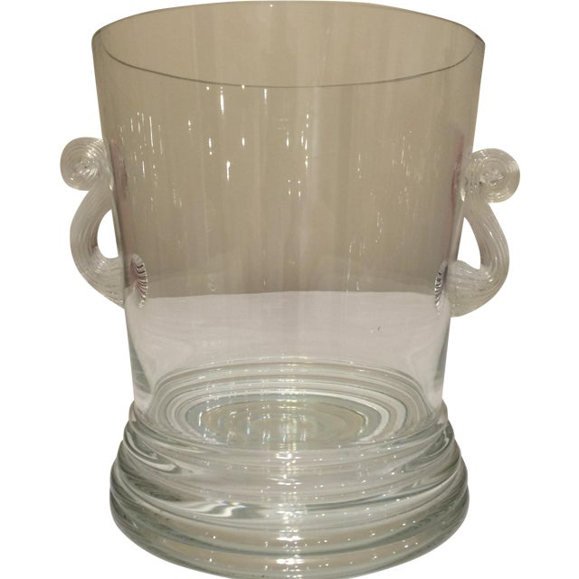 Glass Vase Round With Handles - Image 1 of 10