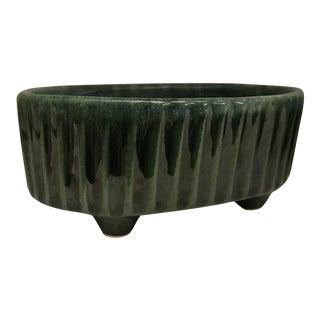 Midcentury Hull USA F39 Green Ceramic Planter For Sale