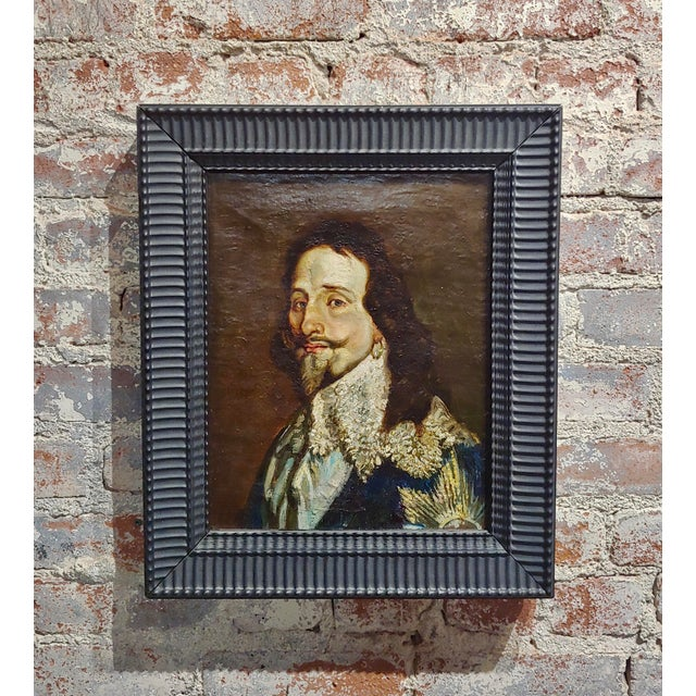 """Portrait of a Spanish Gentleman -17/18th century painting. oil painting on canvas frame size 15 x 19"""" canvas size 11 x 14"""""""