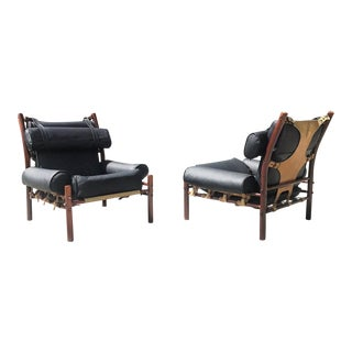1960s Danish Modern Arne Norell Inca Chairs - a Pair For Sale
