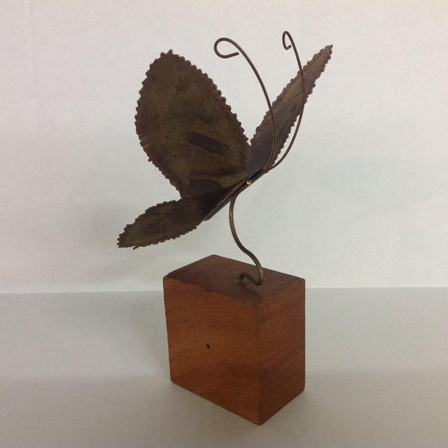 Brass Brutalist Butterfly Sculpture - Image 2 of 6