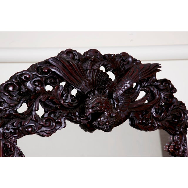 Wood Antique Japanese Carved Chest & Mirror For Sale - Image 7 of 9