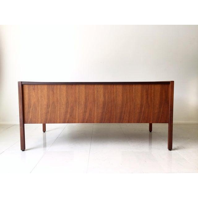 Jens Risom Leather-Topped Walnut Desk - Image 3 of 8