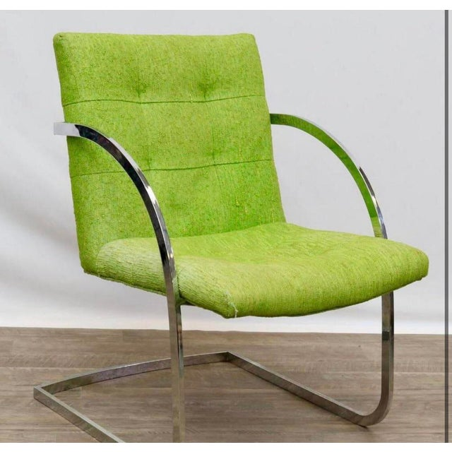 Metal 1960s Original Milo Baughman for Thayer Coggin Lounge Chairs - a Pair For Sale - Image 7 of 9