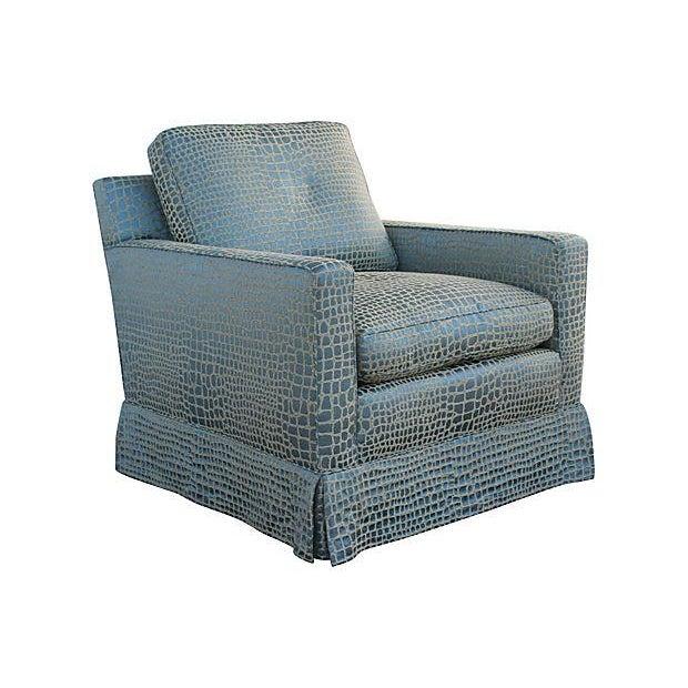 Faux Crocodile Sofa & Club Chair - Image 7 of 7
