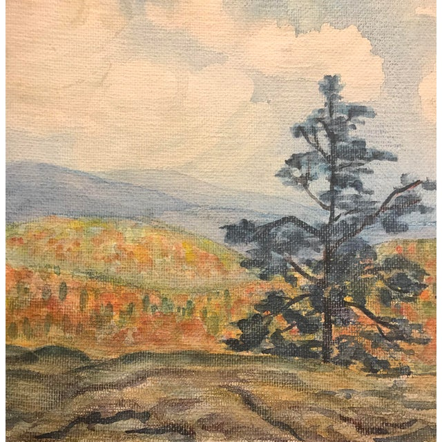 Traditional 1930s Watercolor of Colorado Landscape by Mercedes Erixon For Sale - Image 3 of 4