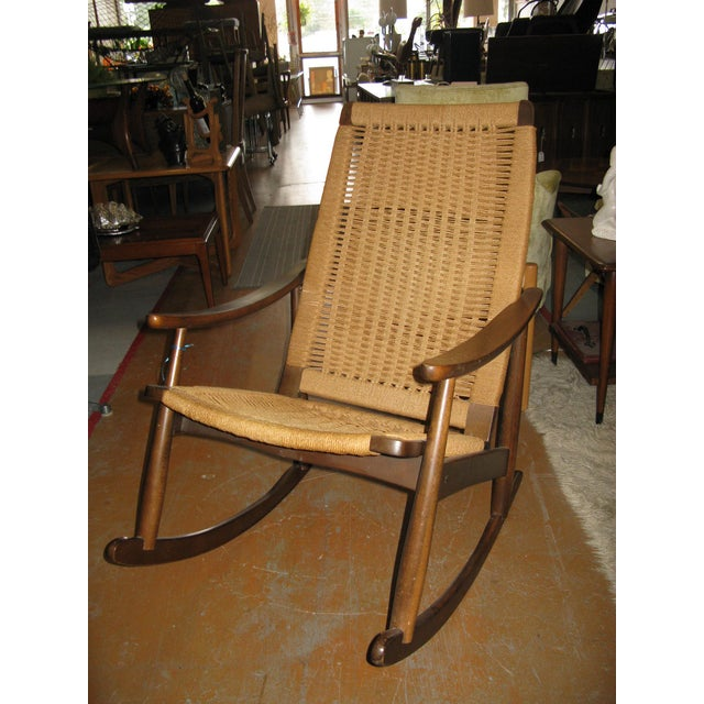 Hans Wegner Style Rope Rocking Chair - Image 2 of 8