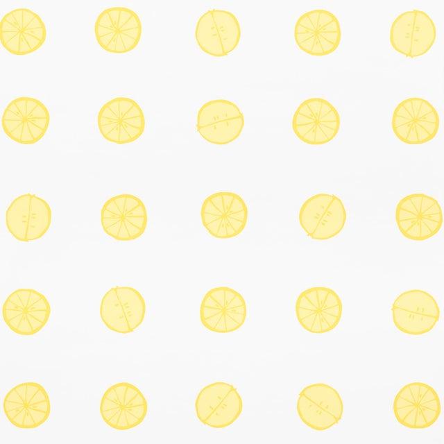 Schumacher Schumacher X Vera Neumann Lemonade Wallpaper in Lemon For Sale - Image 4 of 5