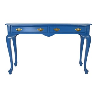 The Bombay Company High Gloss Blue Entryway Table For Sale