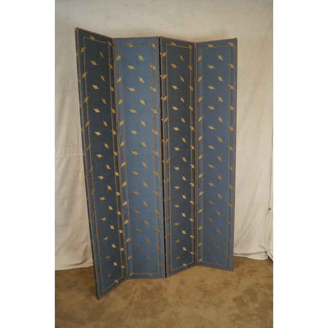Quality Upholstered Tall Folding Screen - Image 2 of 10