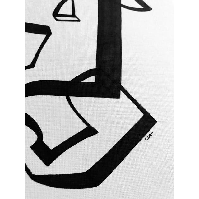 """Line Dancing"" Original Pen & Ink Drawing For Sale In Charlotte - Image 6 of 8"