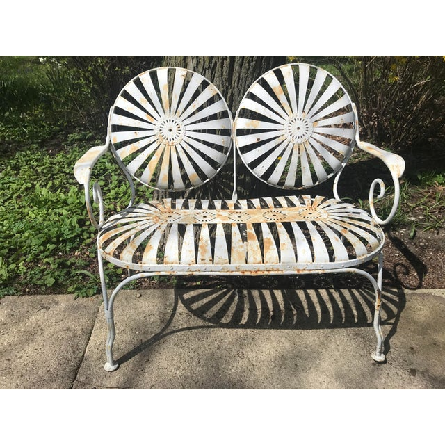 Francois Carre French Sunburst Garden Bench For Sale - Image 11 of 13