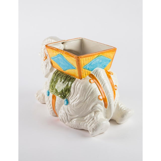 1970s Hand Painted Italian Elephant Planter For Sale - Image 5 of 9