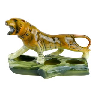 Mid-Century Modern Ceramic Tiger Planter / Sculpture